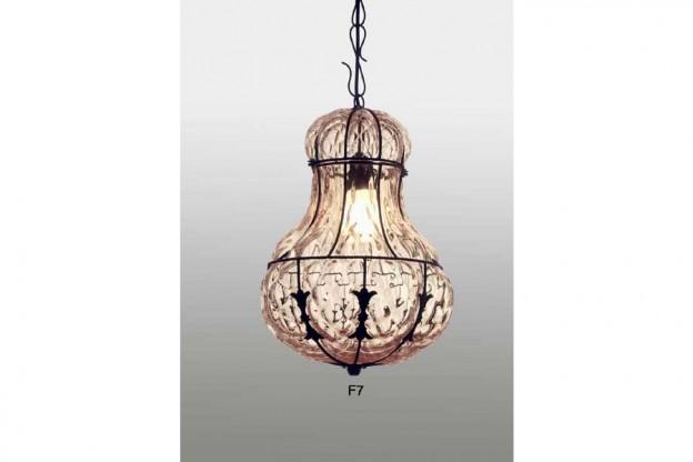 Handicraft Venetian lantern F7 Murano glass artistic works