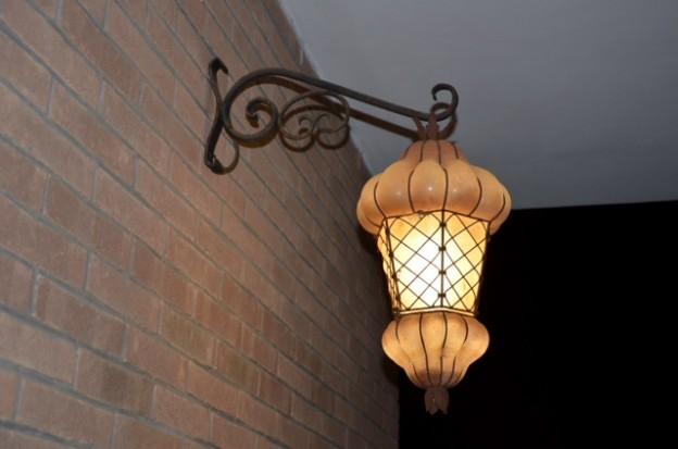 Handicraft Venetian lantern F8 Murano glass artistic works