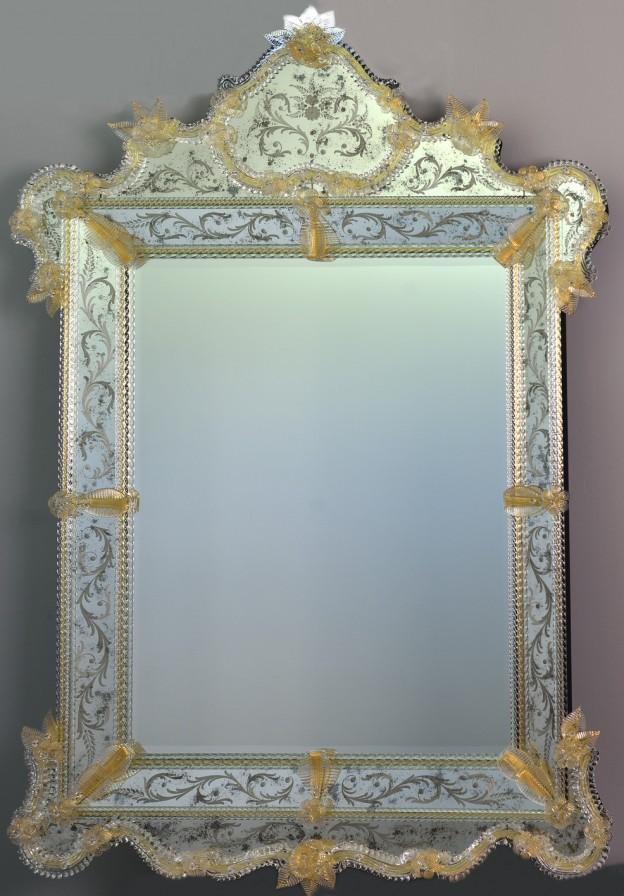 Handmade venetian mirror SP04 Murano glass artistic works