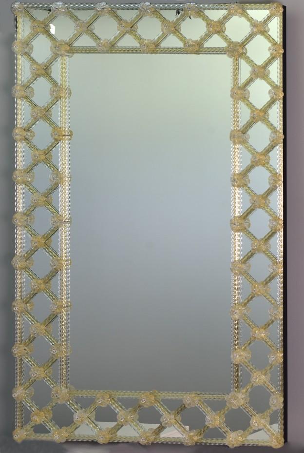 Handmade venetian mirror SP05 Murano glass artistic works