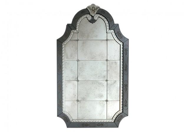 Handmade venetian mirror SP07 Murano glass artistic works