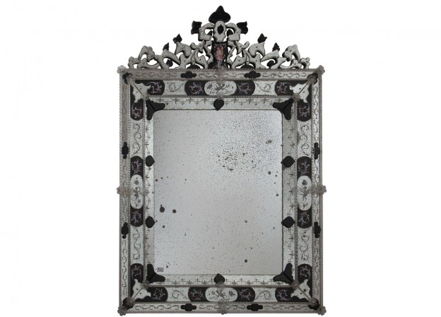 Handmade venetian mirror SP08 Murano glass artistic works