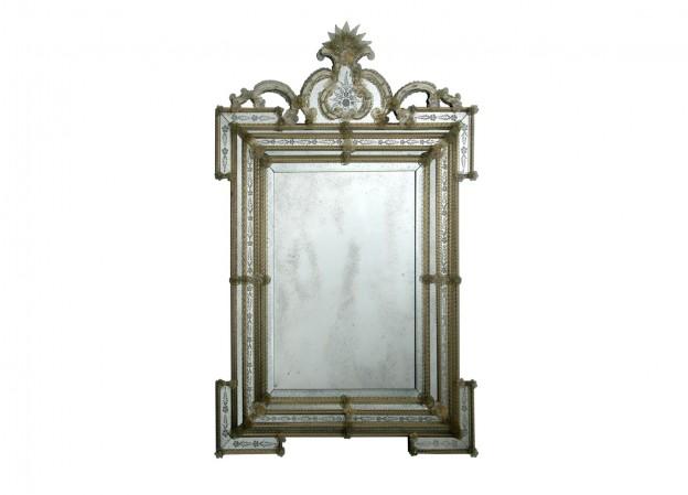 Handmade venetian mirror SP183 Murano glass artistic works