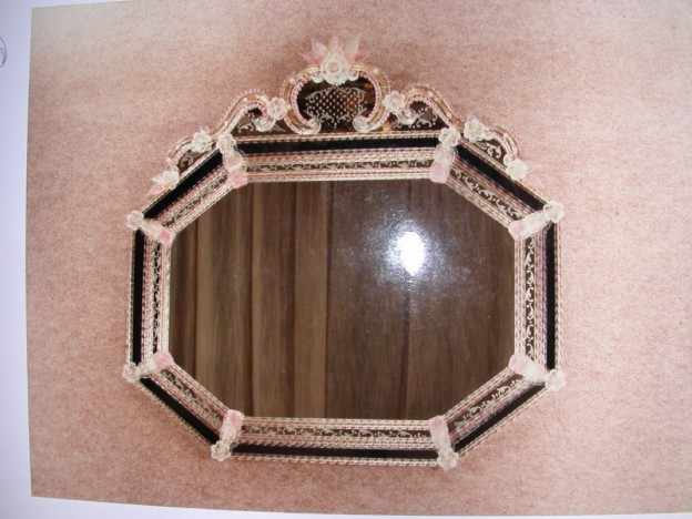 Handmade venetian mirror SP187 Murano glass artistic works
