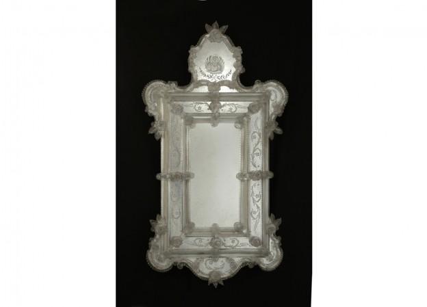 Handmade venetian mirror SP22 Murano glass artistic works