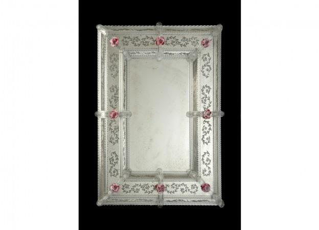 Handmade venetian mirror SP23 Murano glass artistic works