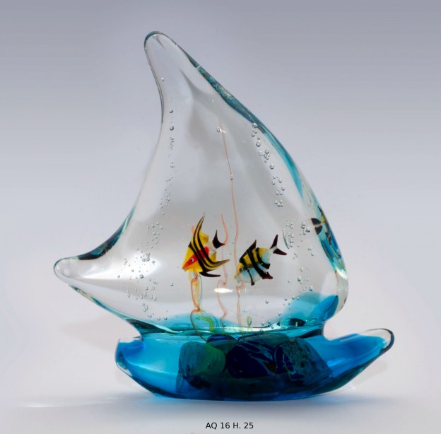 Venetian handmade aquarium AQ16 Murano glass artistic works