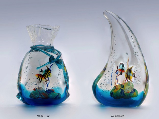 Venetian handmade aquarium AQ20 Murano glass artistic works