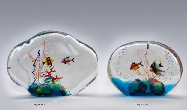 Venetian handmade aquarium AQ26 Murano glass artistic works