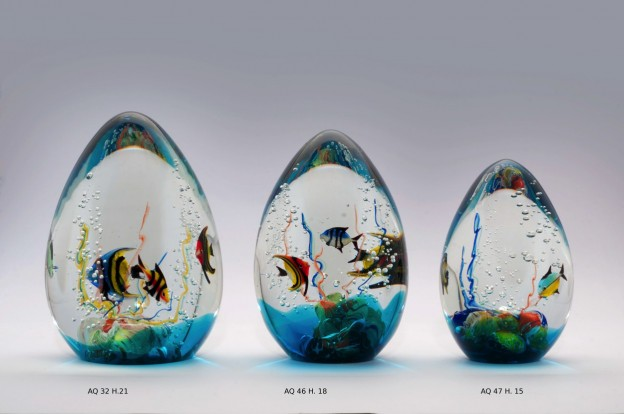 Venetian handmade aquarium AQ32 Murano glass artistic works