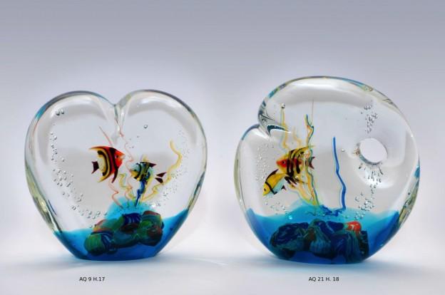 Venetian handmade aquarium AQ9 Murano glass artistic works
